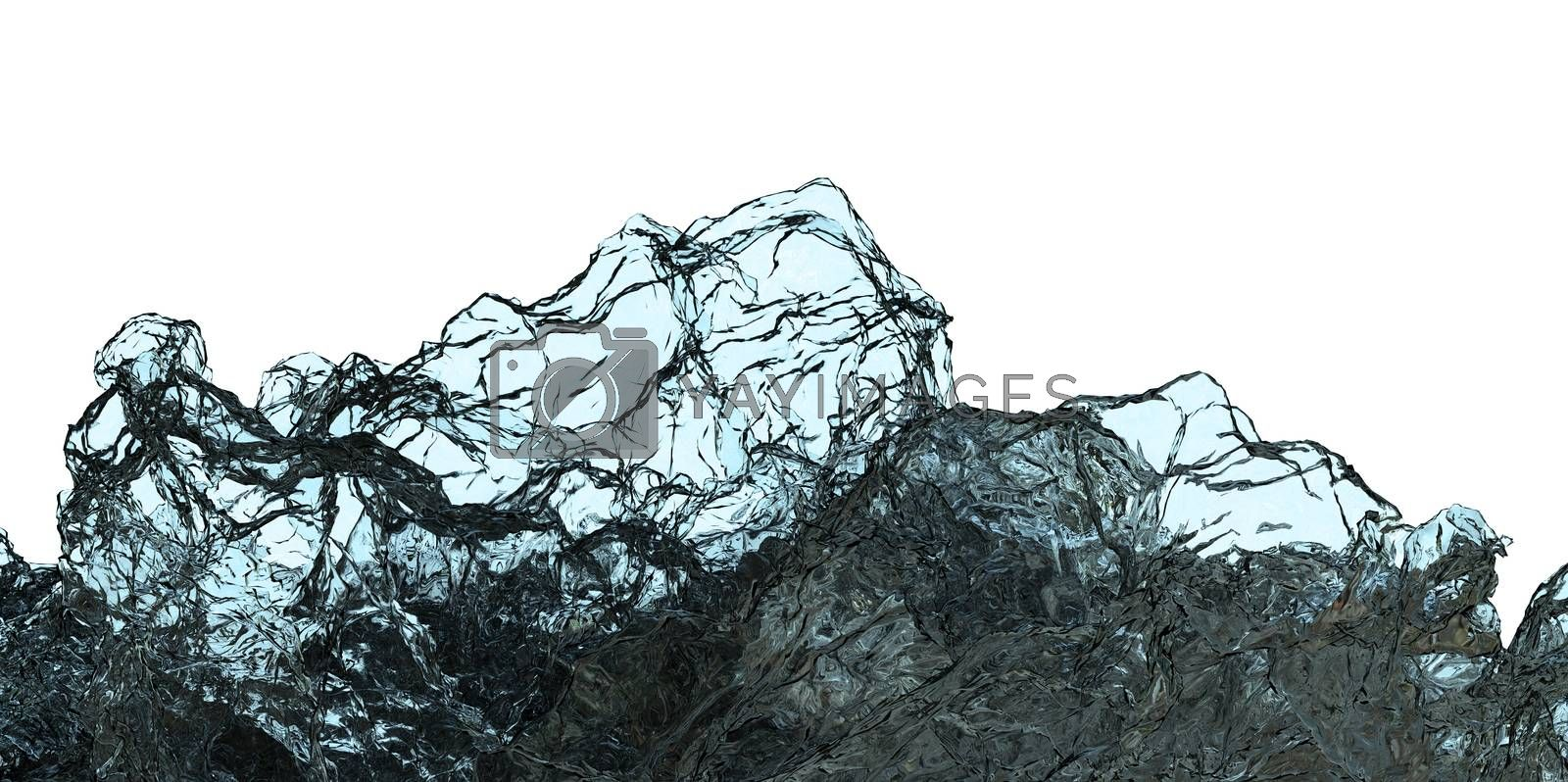 Transparent Abstract Background. 3D Illustration by cherezoff