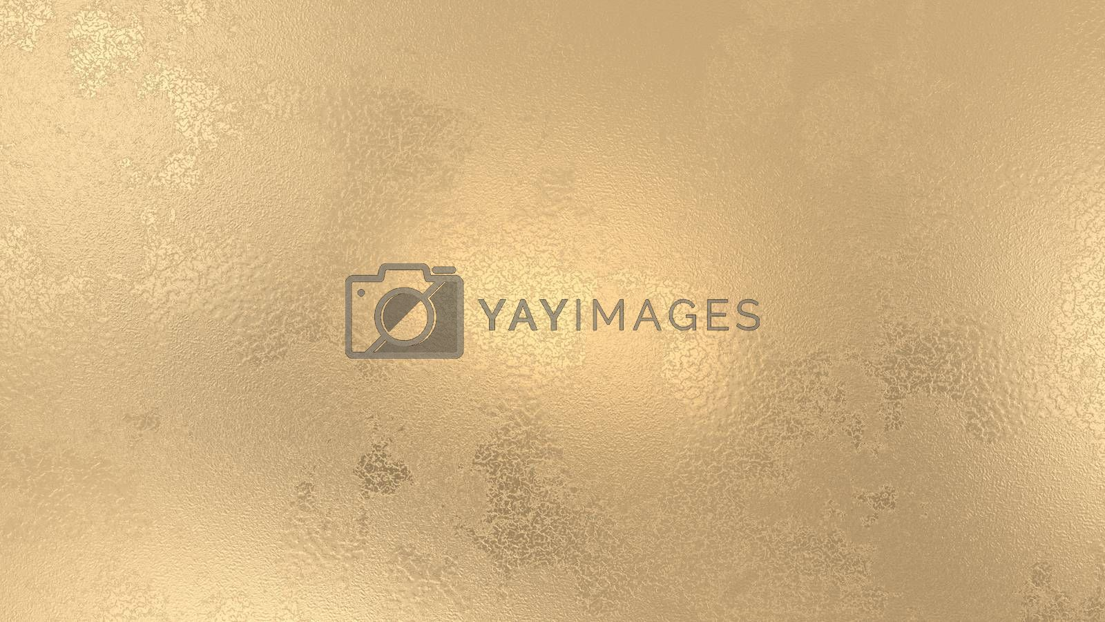 3d render abstract gold background. Golden shiny backdrop. Luxury bright shiny illustration for poster, banner, sale design. Bronze, copper.