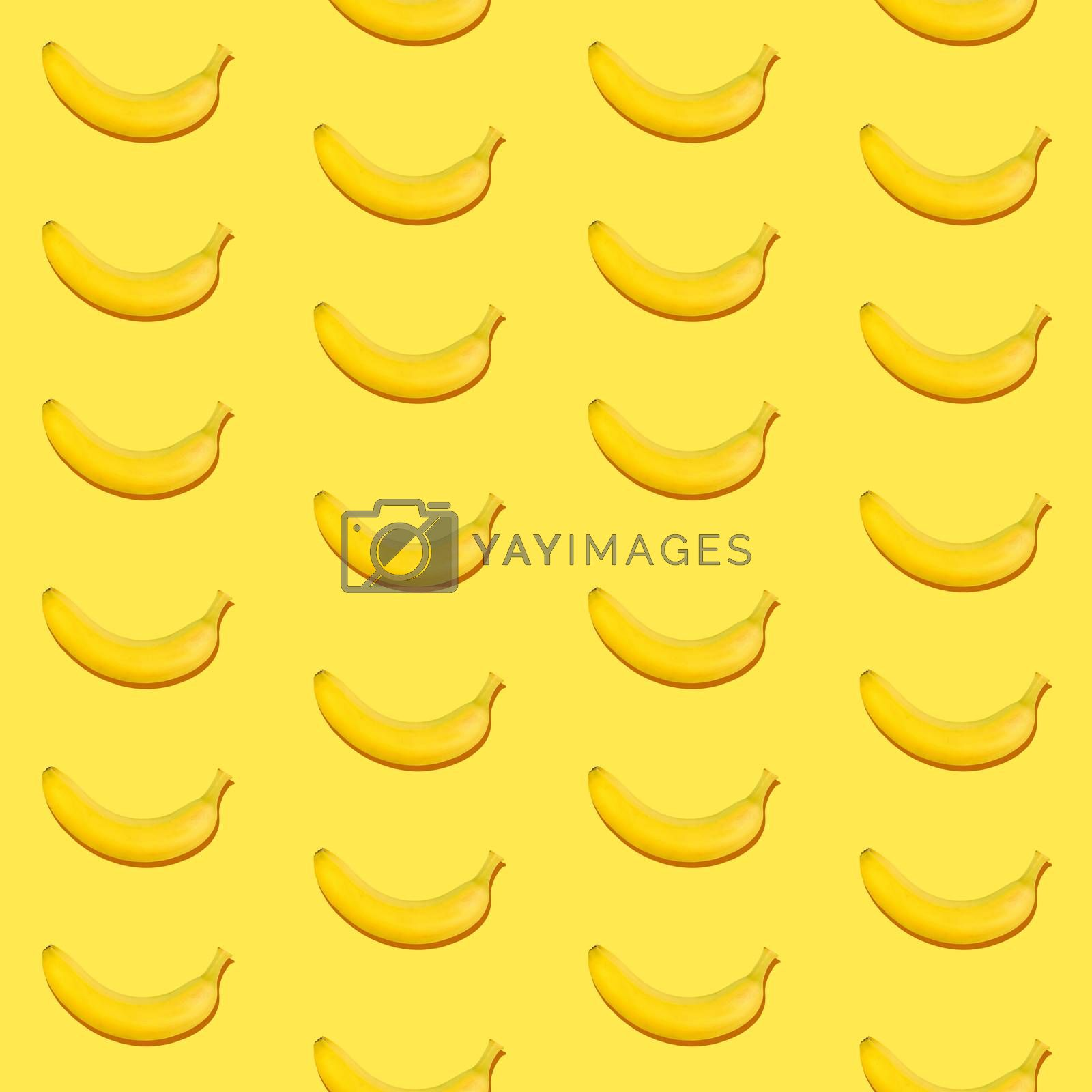 Seamless pattern of bananas on yellow background by BreakingTheWalls