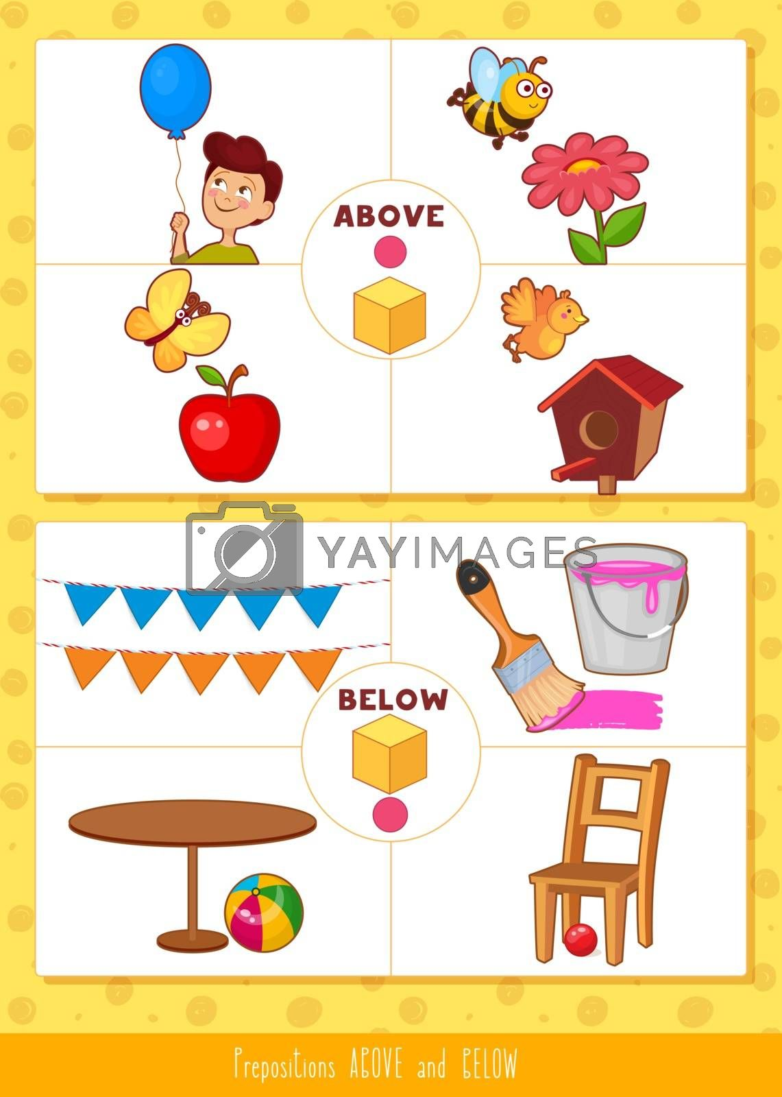 Prepositions above and below by SonneOn