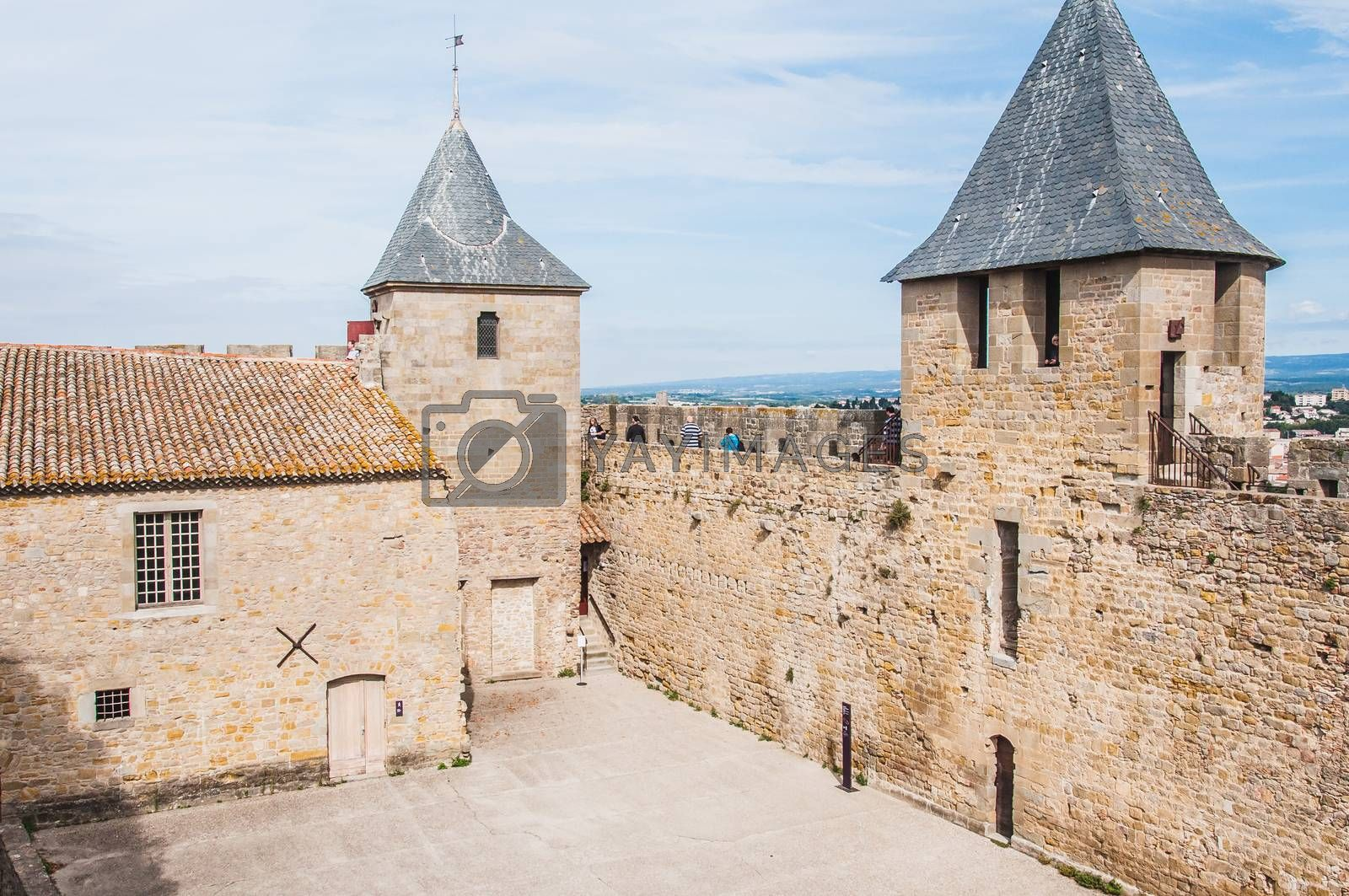 Ramparts of the Medieval City of Carcassonne in France by raphtong