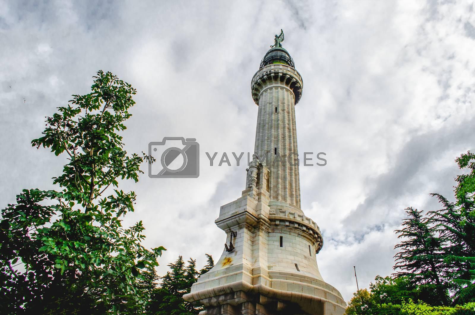 Faro della Vittoria - Trieste Victory Lighthouse Italy .