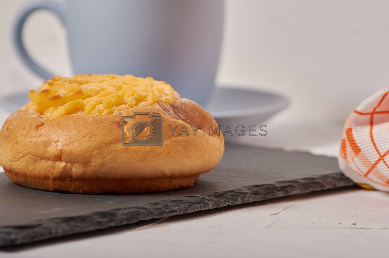 Royalty free image of coconut cream bun by Prf_photo