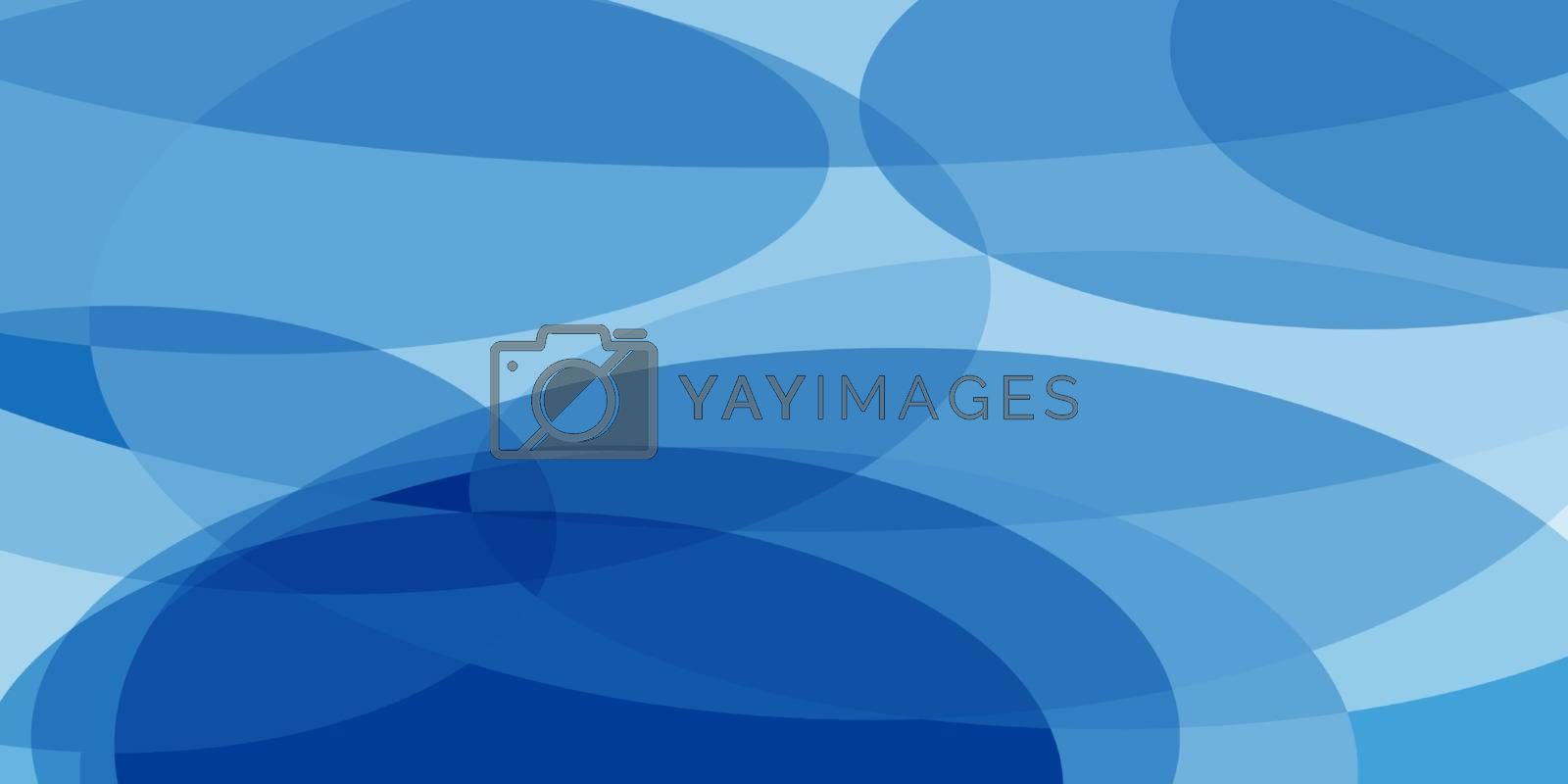 blue ovals abstract background by studiostoks