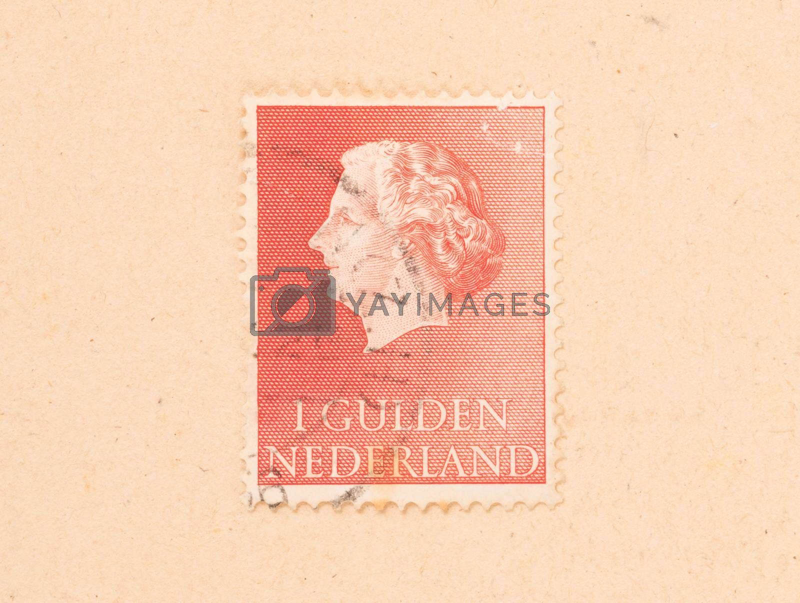 THE NETHERLANDS 1980: A stamp printed in the Netherlands shows t by michaklootwijk