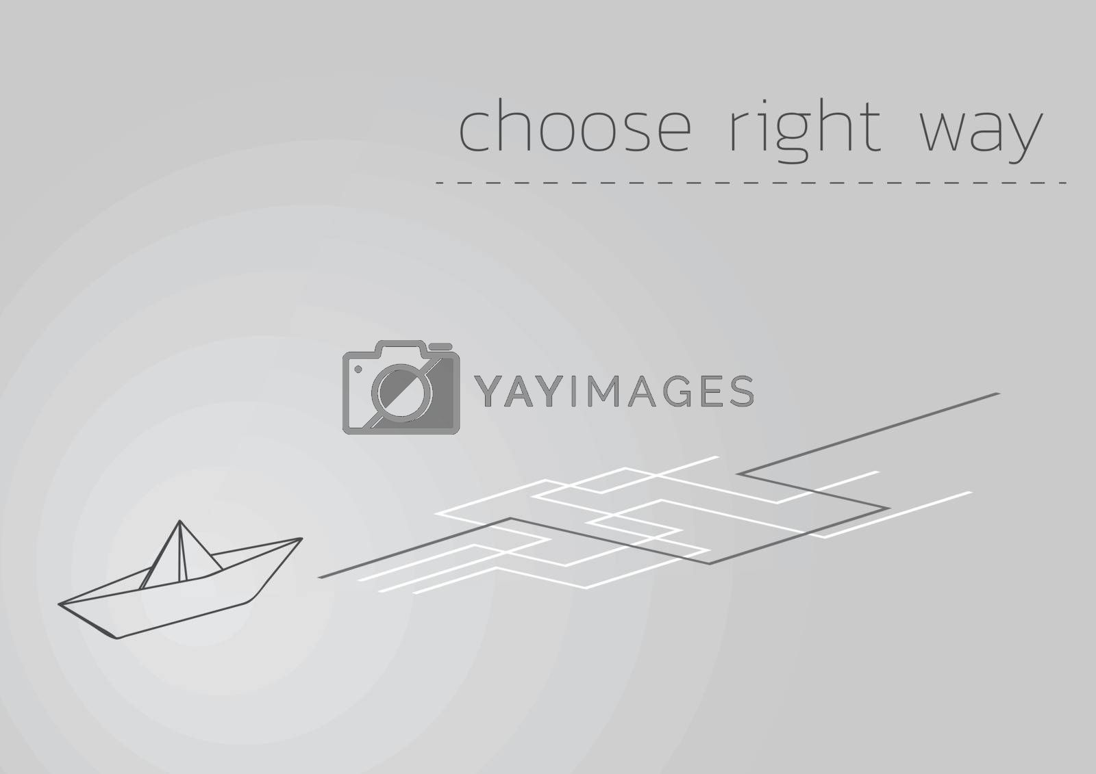 paper ship and choose right way by muuraa