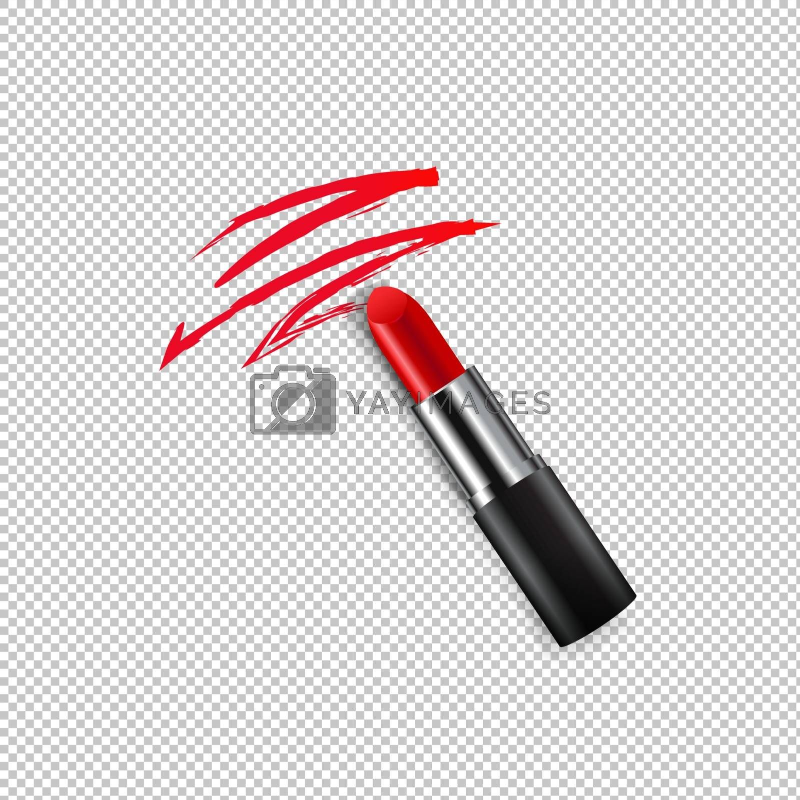 Red Female Lipstick Transparent background by adamson