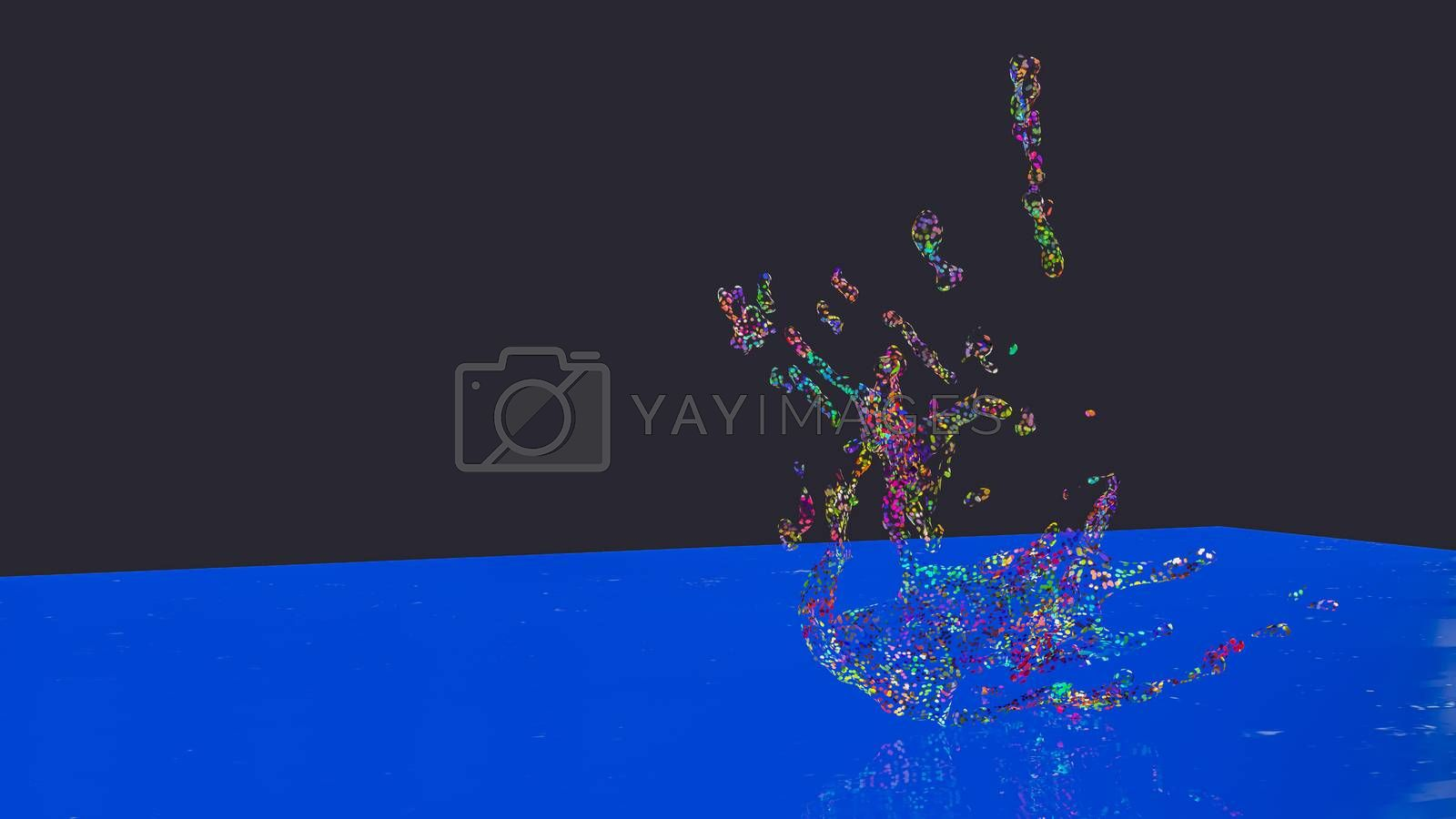 3D illustration of  abstract splash  by Images By Kenny