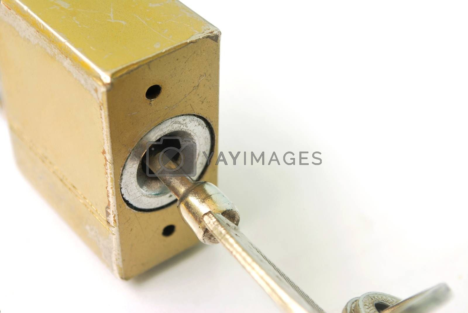 house lock key. by thitimon