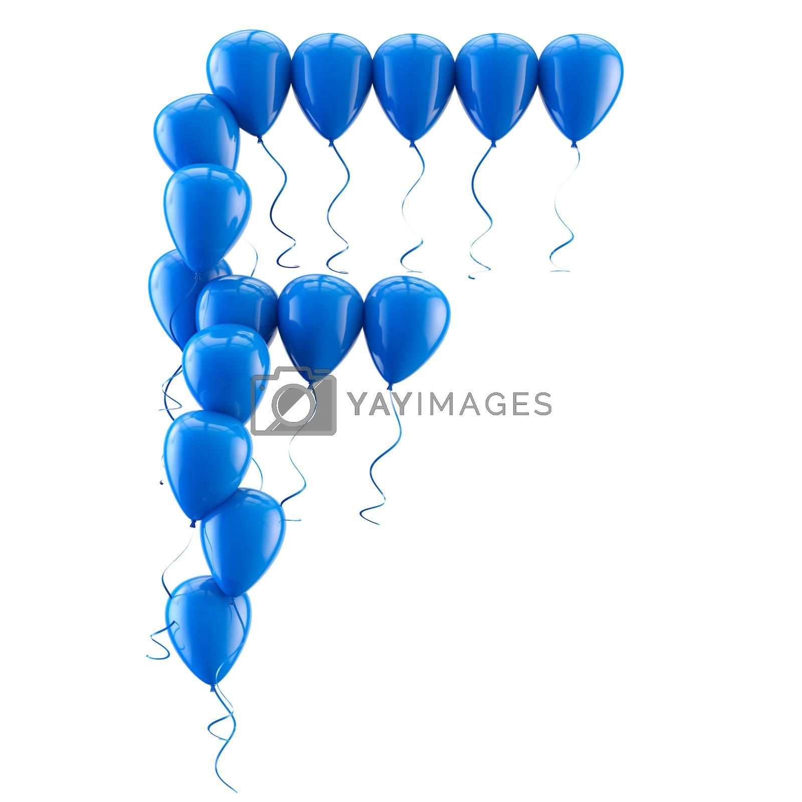 3D rendering Colorful balloons letters isolated over white. by carloscastilla