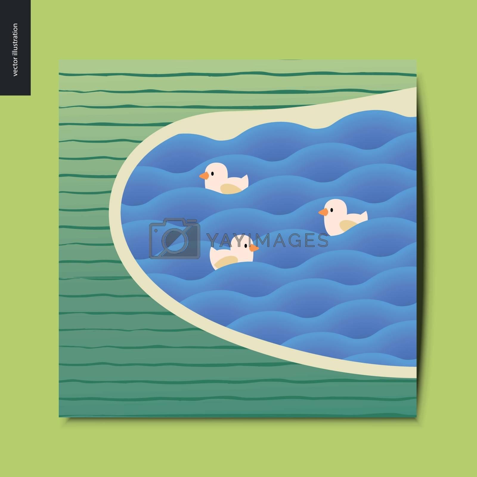 Simple things - lake by grivina