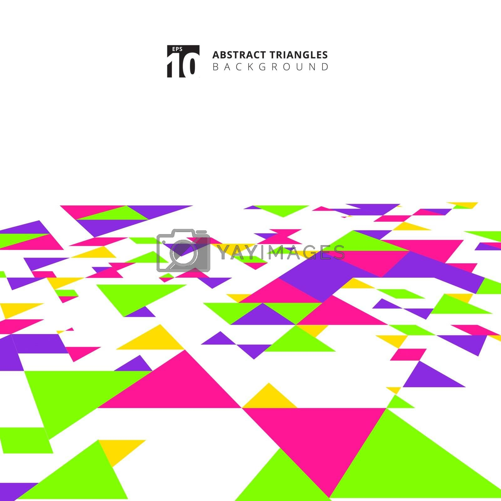 Abstract modern colorful triangles pattern elements perspective  by phochi