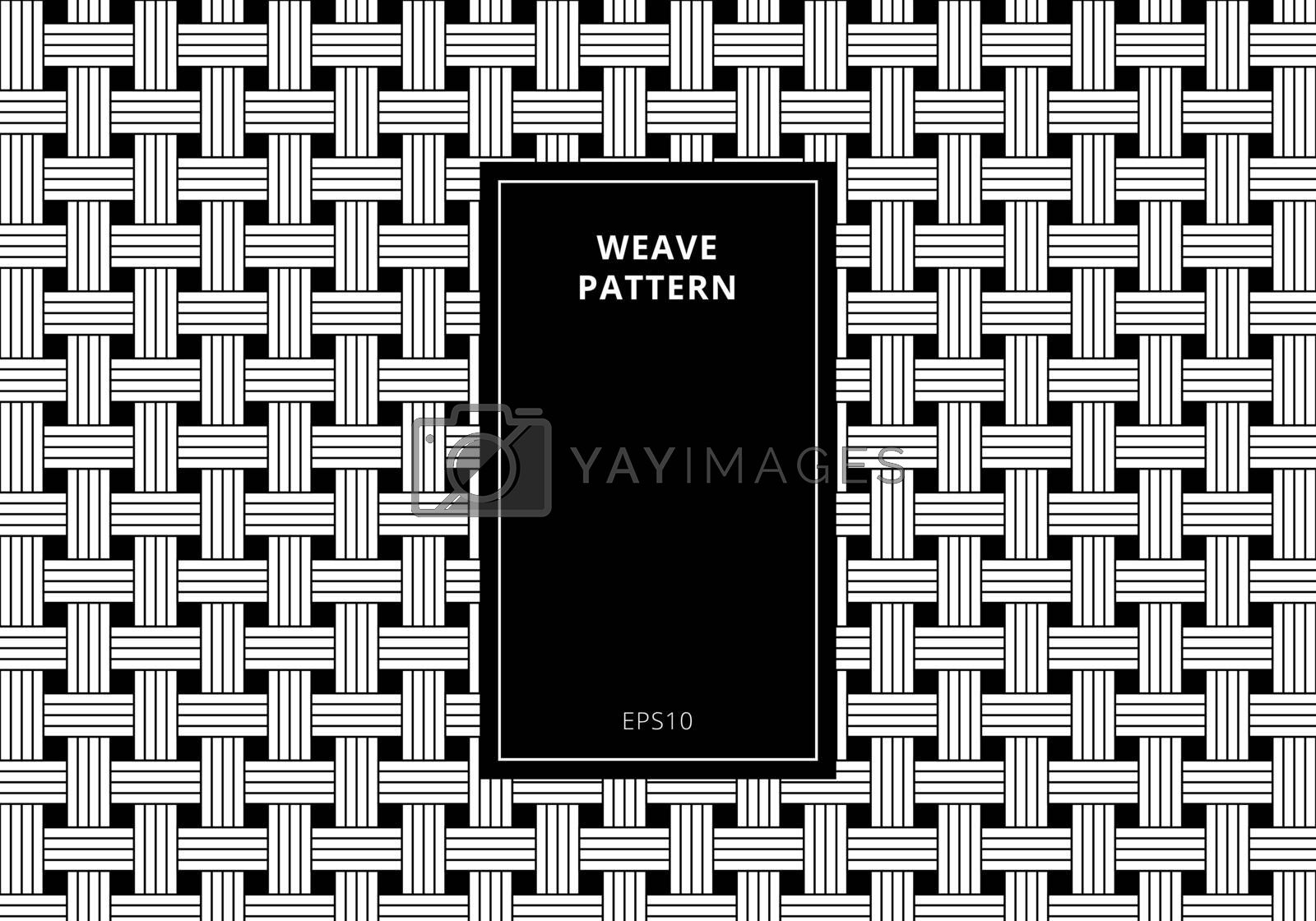 Royalty free image of Geometric seamless black and white weave pattern background. Abs by phochi