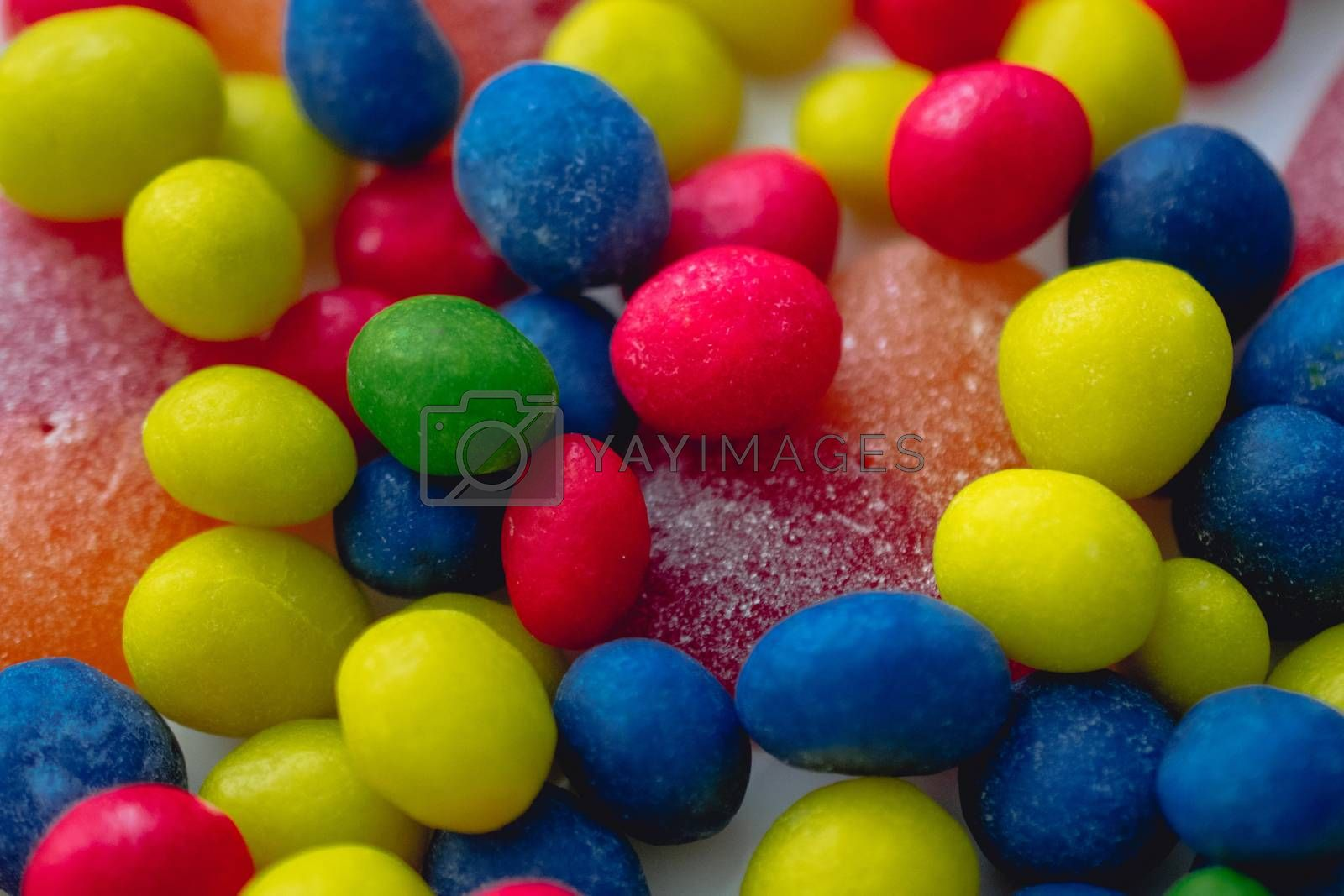 candy with multi-colored glaze