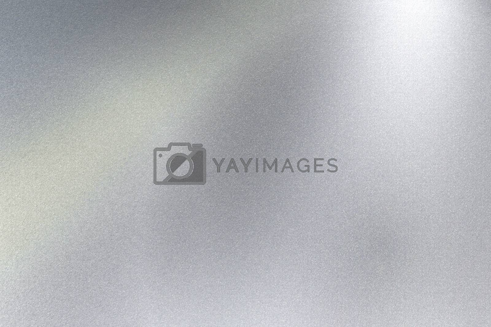 Glowing silver steel sheet surface, abstract texture background