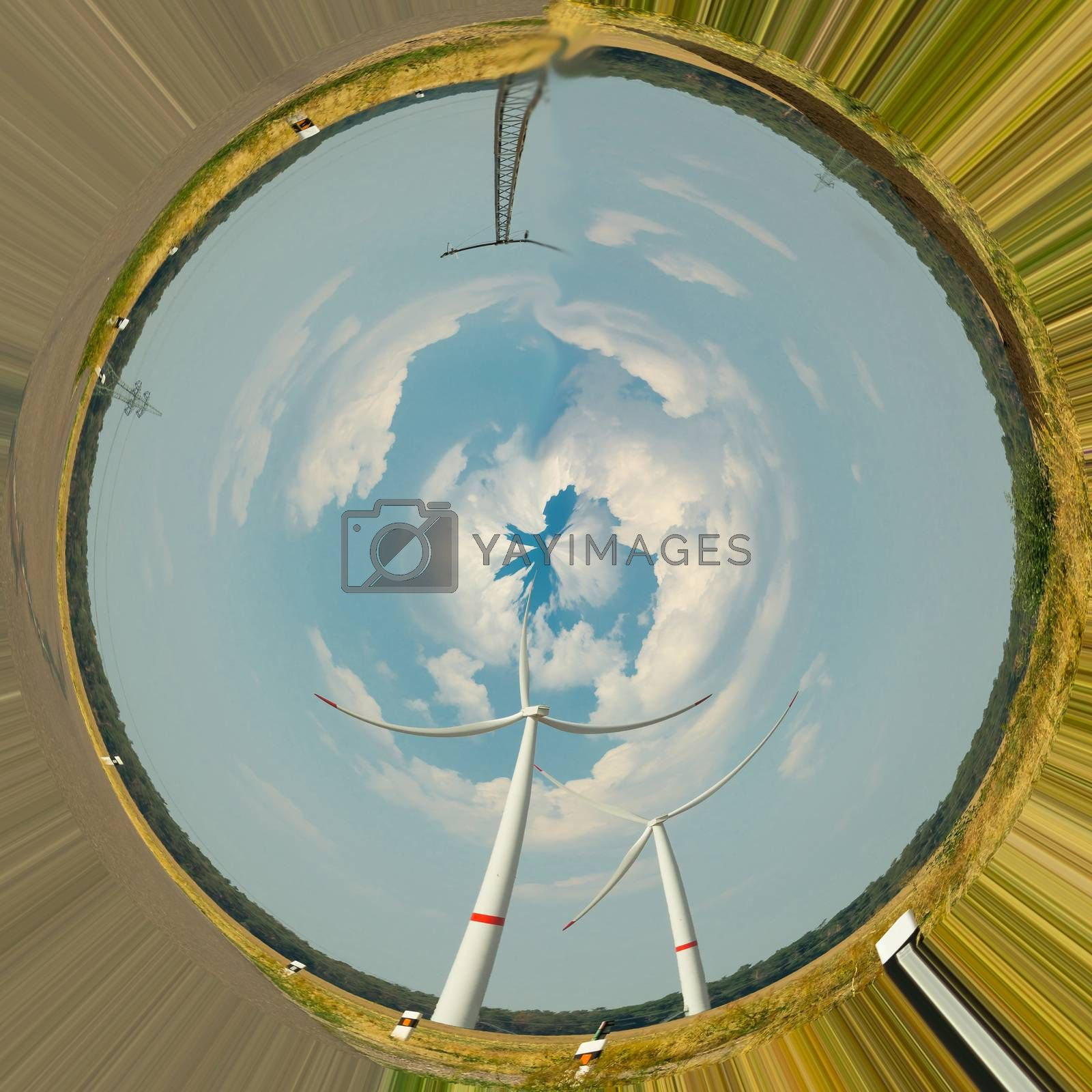 Wind turbines. Photo effect distortion filter         by JFsPic