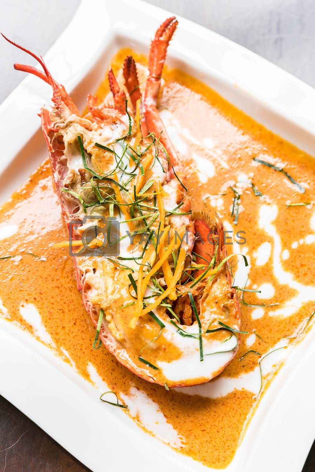 Lobster red curry choo chee