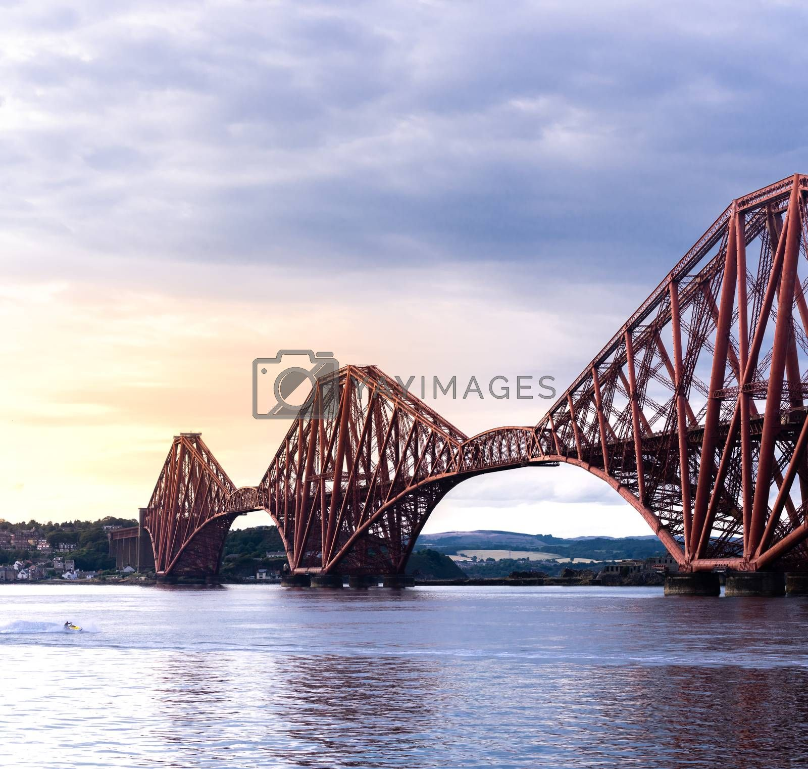 The Forth bridge, UNESCO world heritage site railway bridge in Edinburgh Scotland UK.