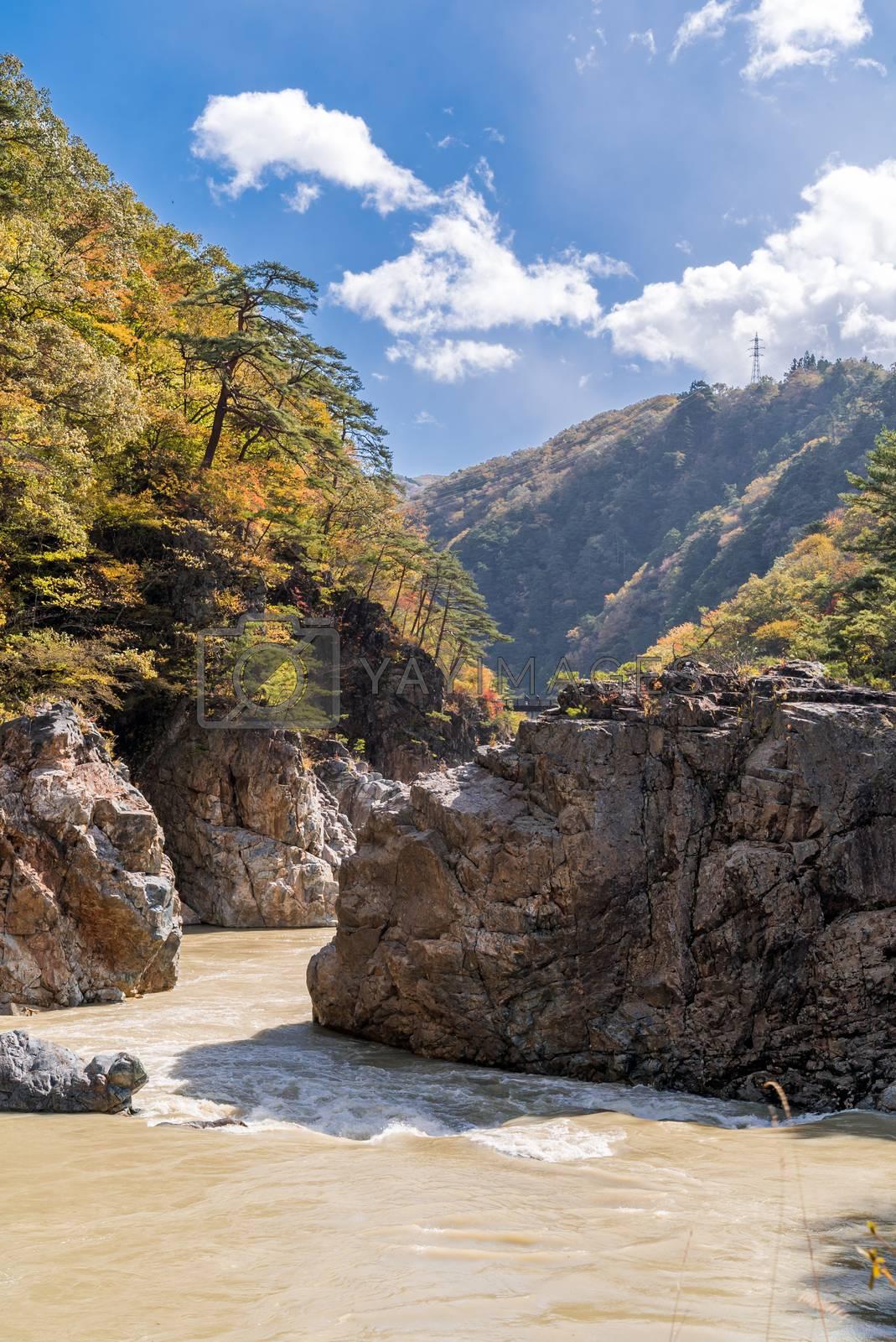 Ryuyo Gorge canyon National Park and recreation area at Nikko Tochigi Japan
