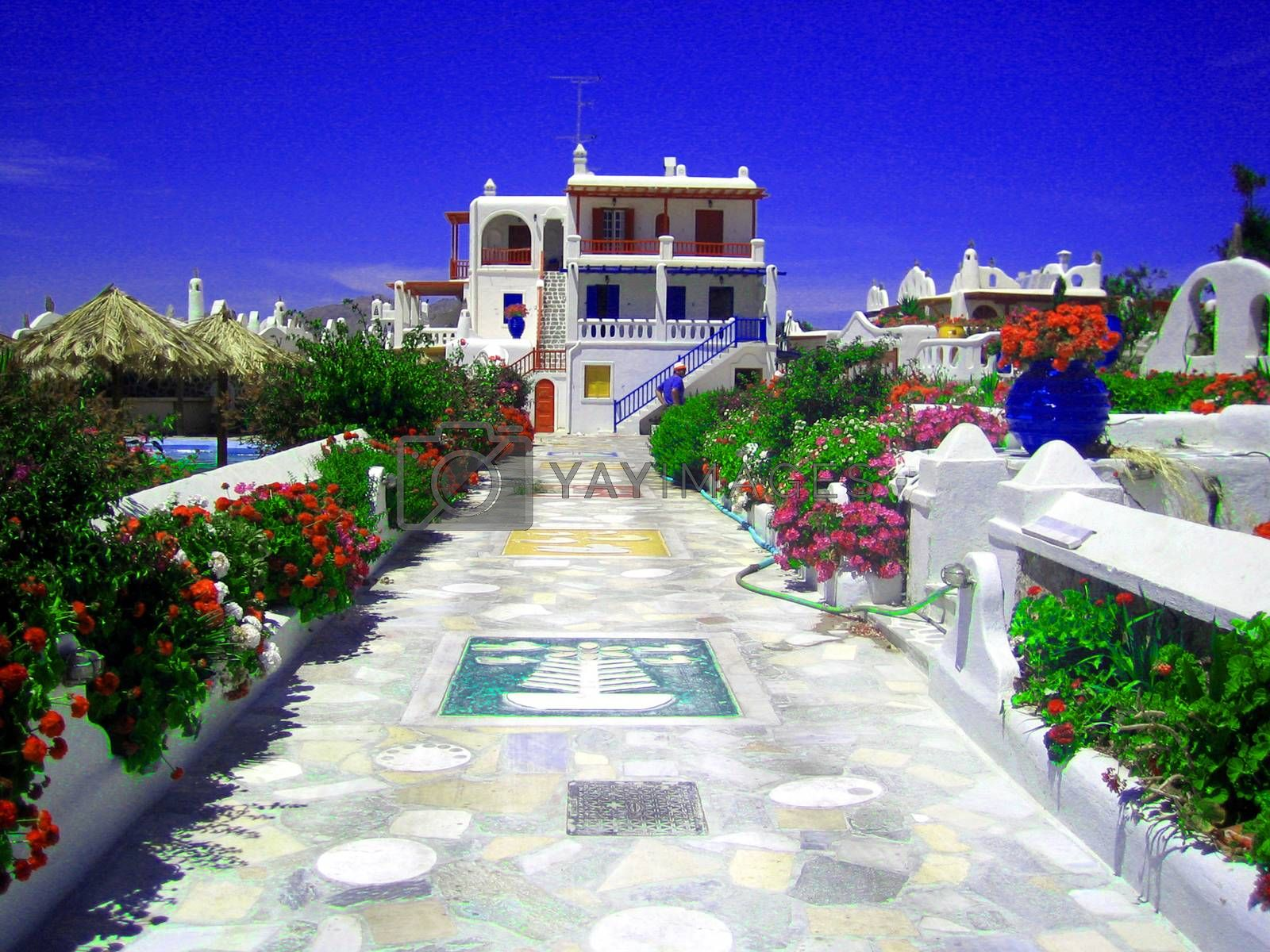 Beautiful Myconos island Grecce background