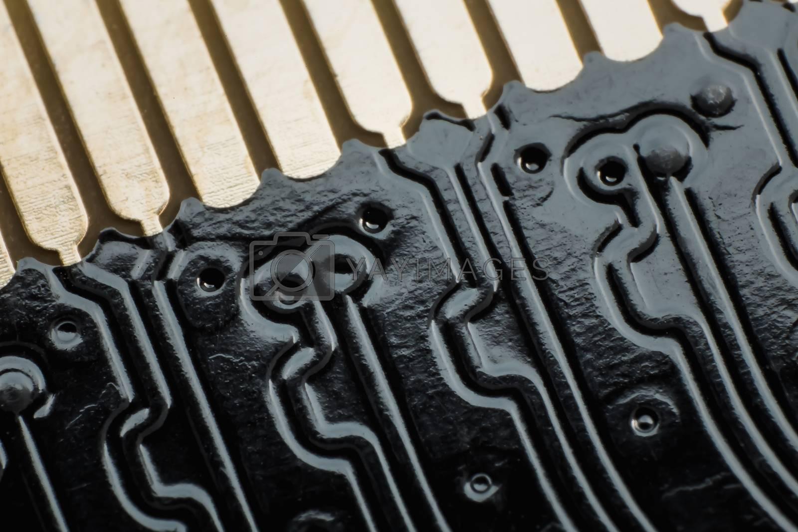 Blur electronic circuit close up computer
