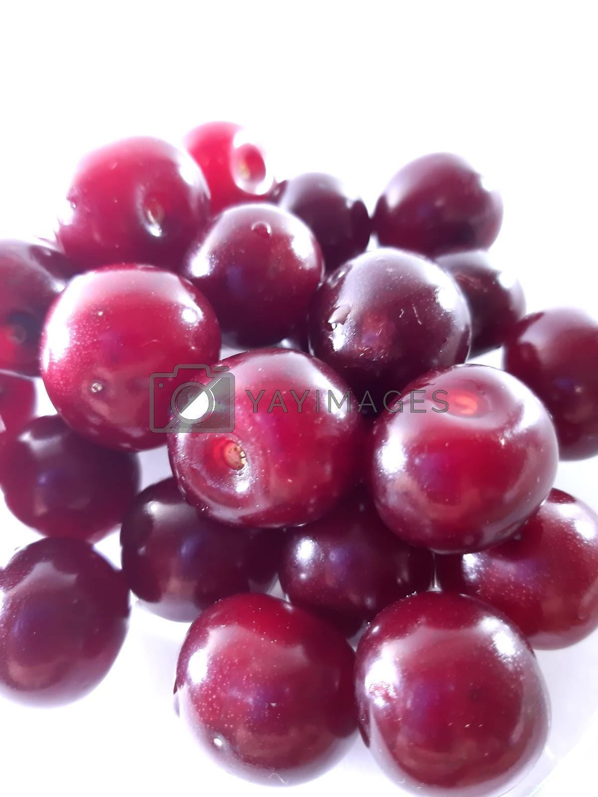 Photo cherry on a transparent plate. Healthy food. Vegetarian red food. Berries and fruits. Berry for snack.