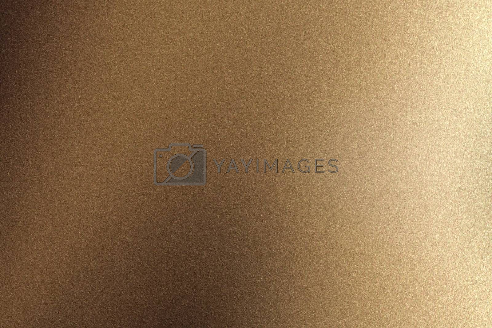 Brushed brown metal wall surface, abstract texture background