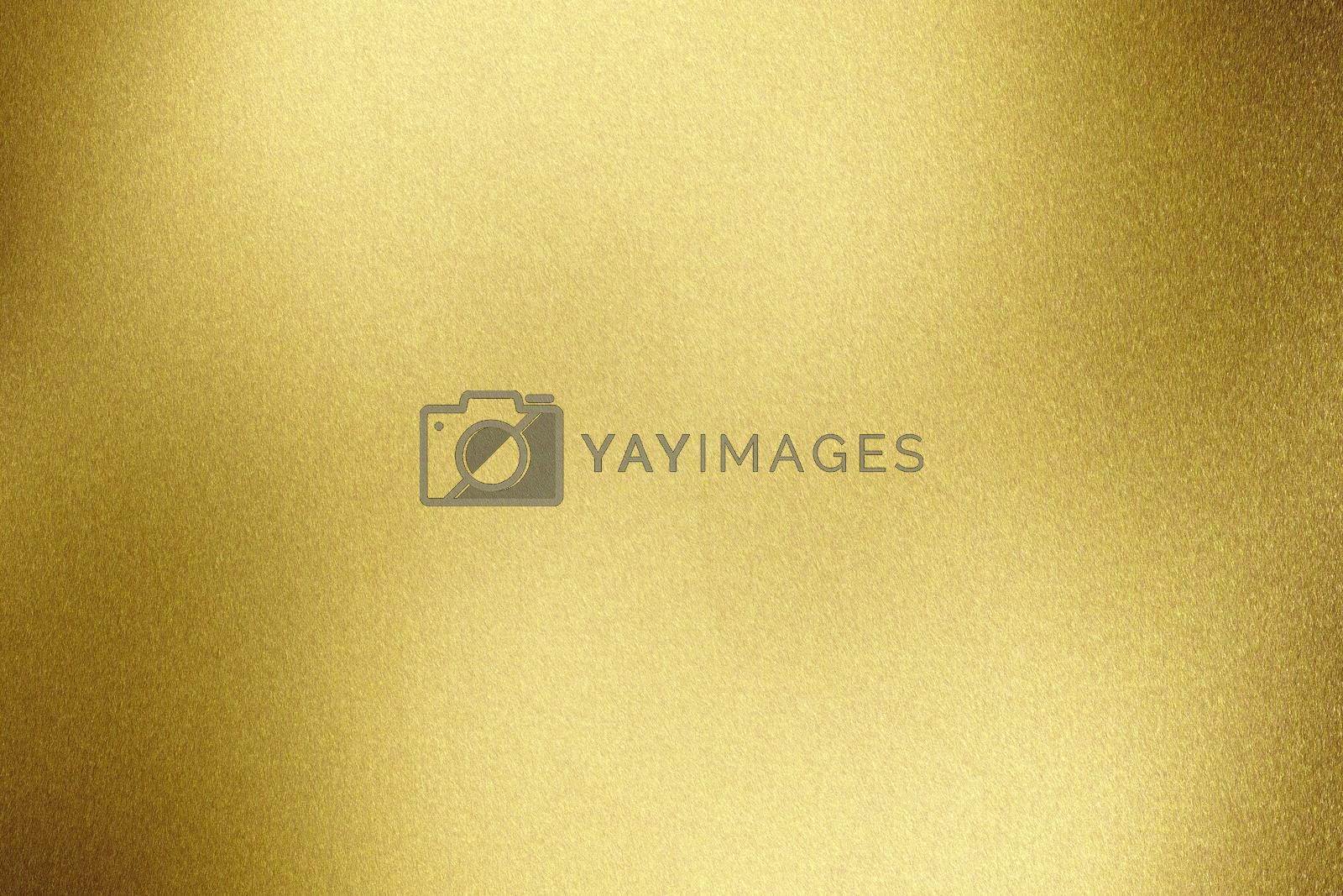 Brushed yellow metal wall, abstract texture background
