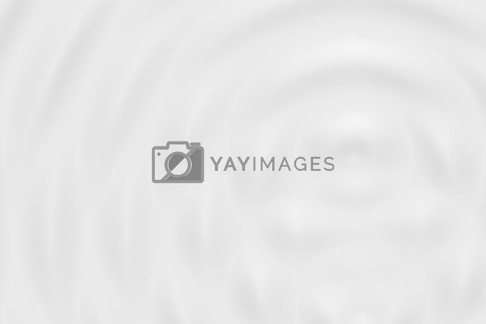 Abstract white liquid ring, soft background texture
