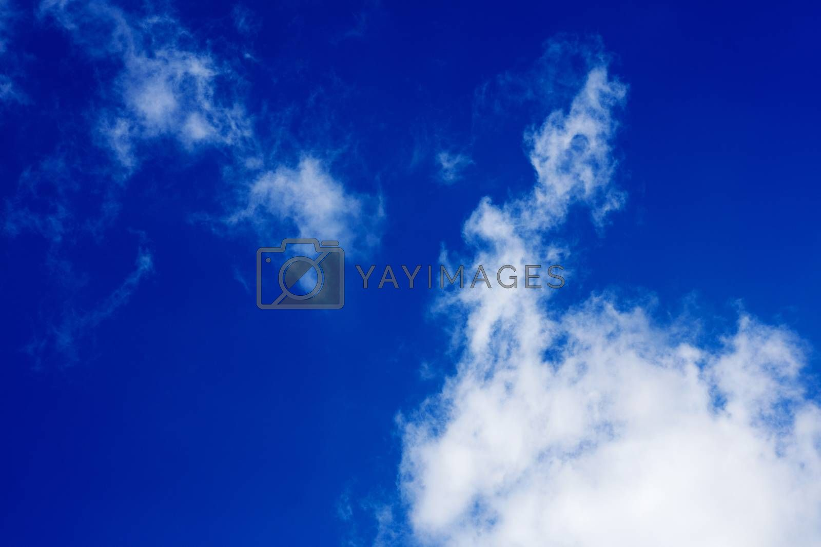 Deep blue sky with clouds high quality fifty megapixels by BakalaeroZz Photography