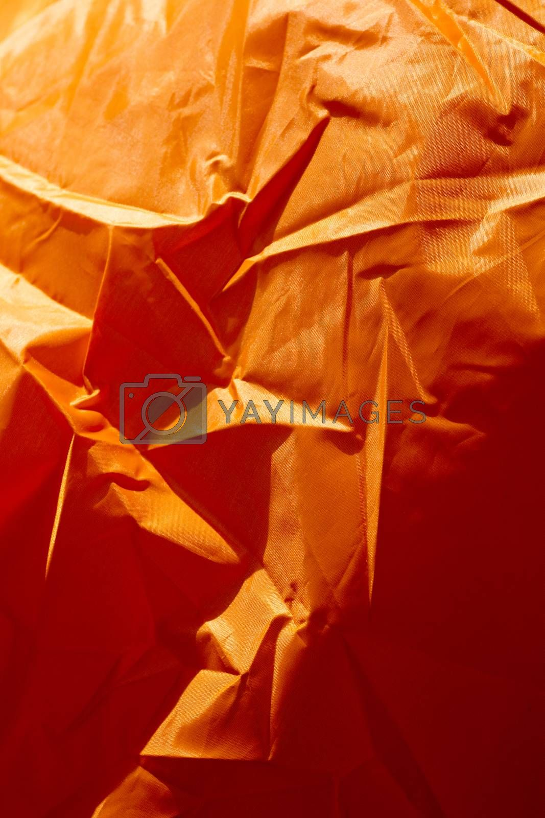 Orange polyester macro abstract background fine art in high quality prints products by BakalaeroZz