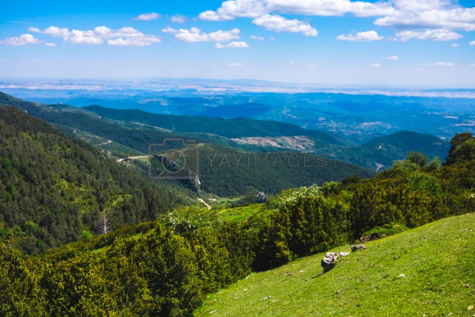 Beautiful sight from the top os Santo Domingo in Longas, Spain by mikelju