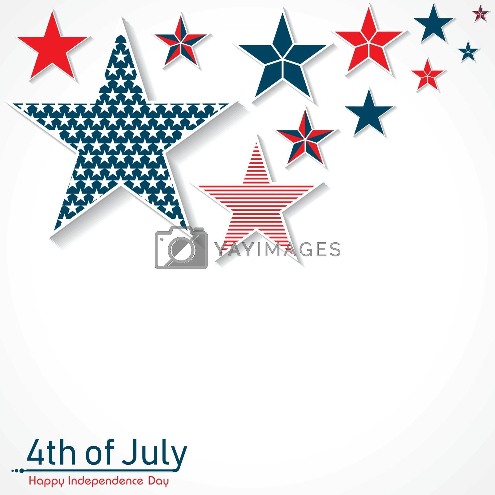 Happy Independence Day of United States 4th July by graphicsdunia4you