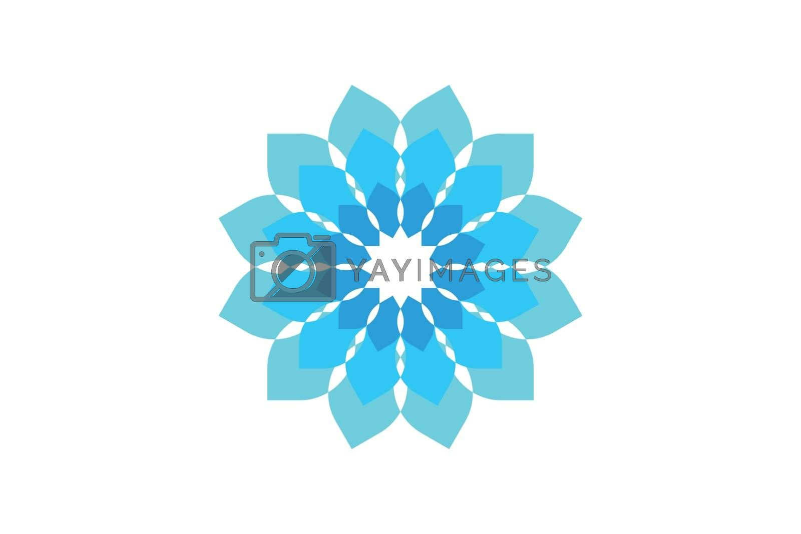 abstract flower logo Designs Inspiration Isolated on White Background by wangsinawang