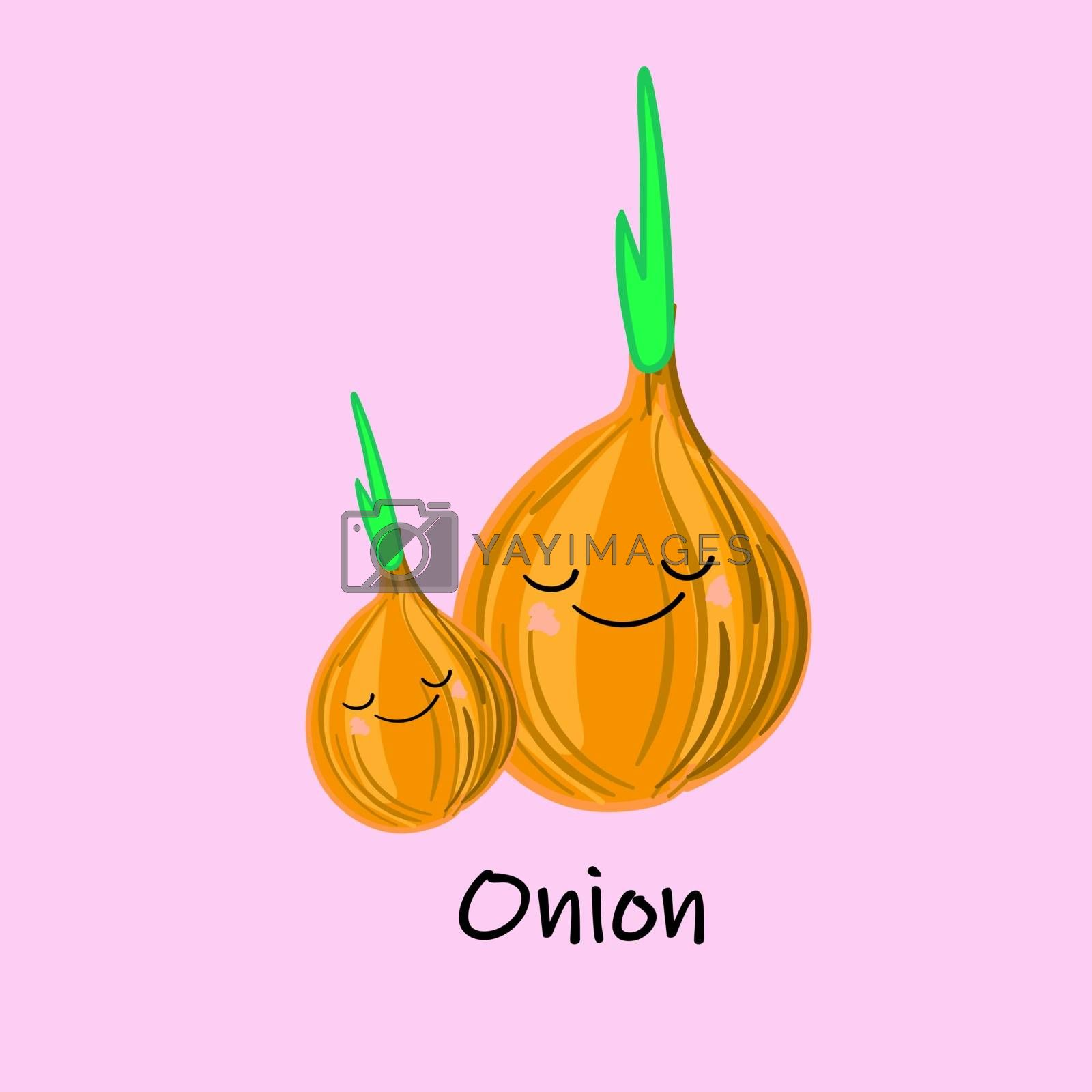 cute cartoon vegetables with smiles on faces and emotions. CARDS FOR CHILDREN'S EDUCATION.Cute vegetable character. by bosonya