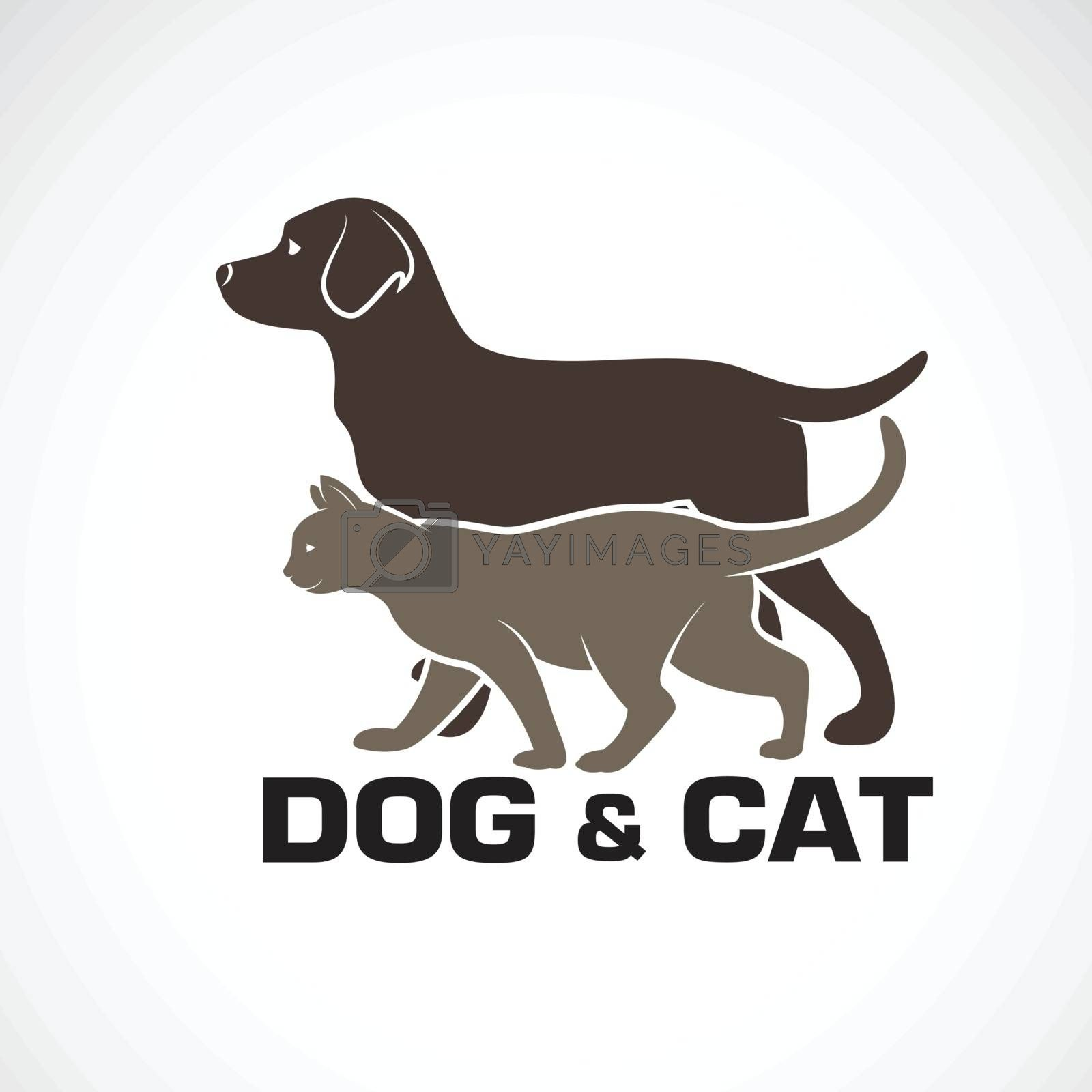 Vector of a dog and cat design on white background. Animal. Pet  by yod67