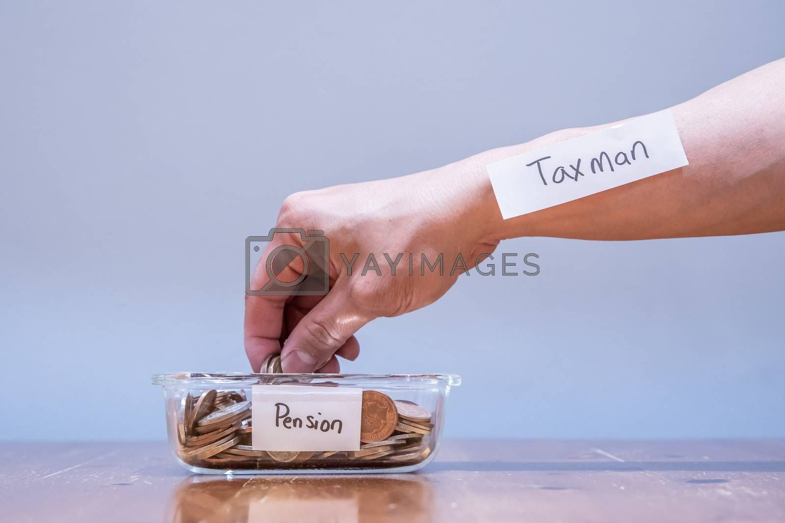 Royalty free image of Pay More High Tax on  Pension Savings by kstphotography