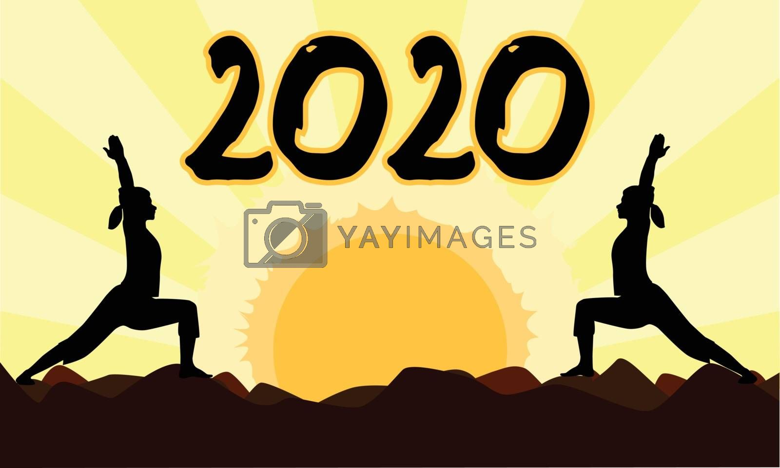 Yoga At Sunset 2020 by HomeSteadDigital