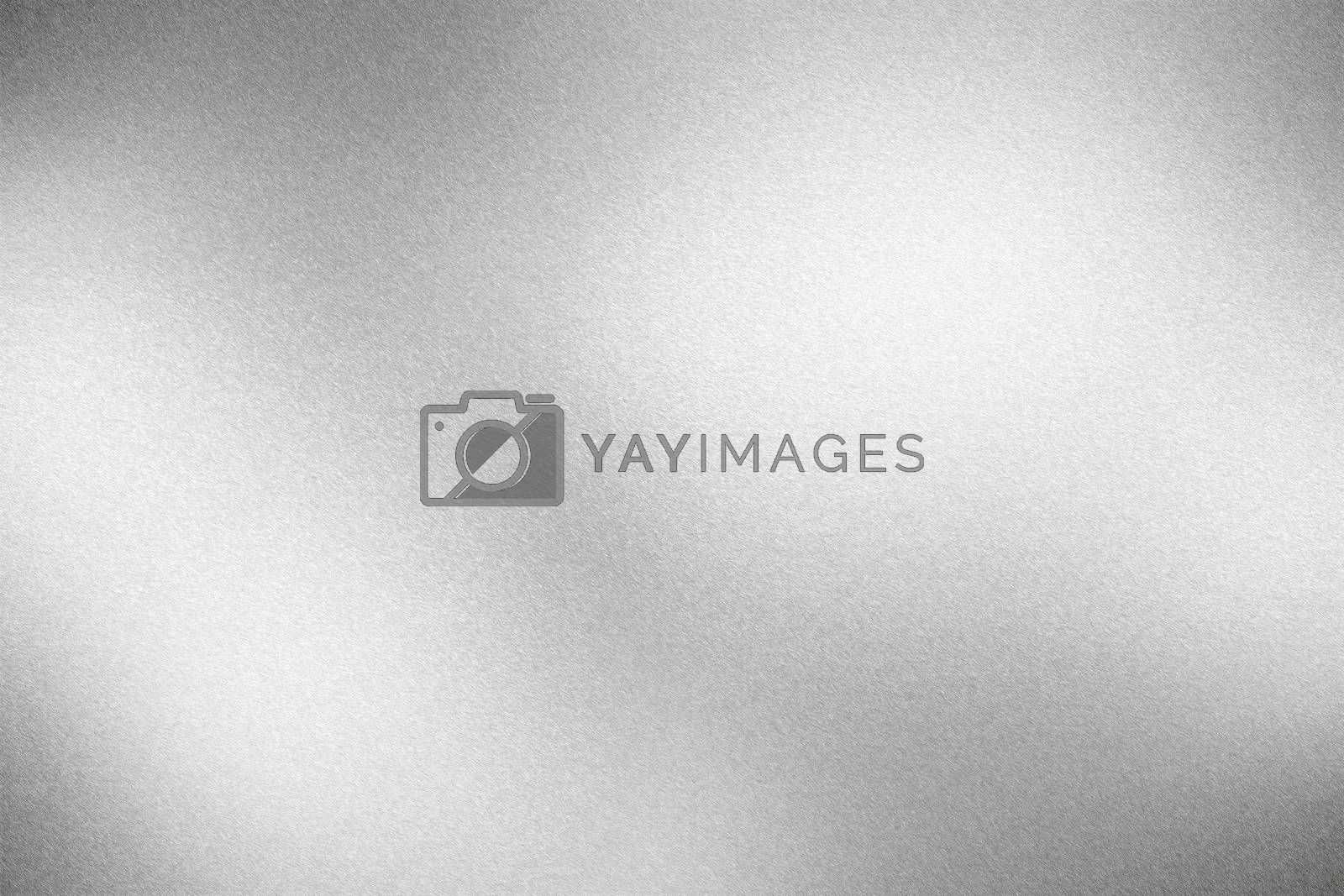 Royalty free image of Glowing rough silver metallic plate, abstract texture background by mouu007