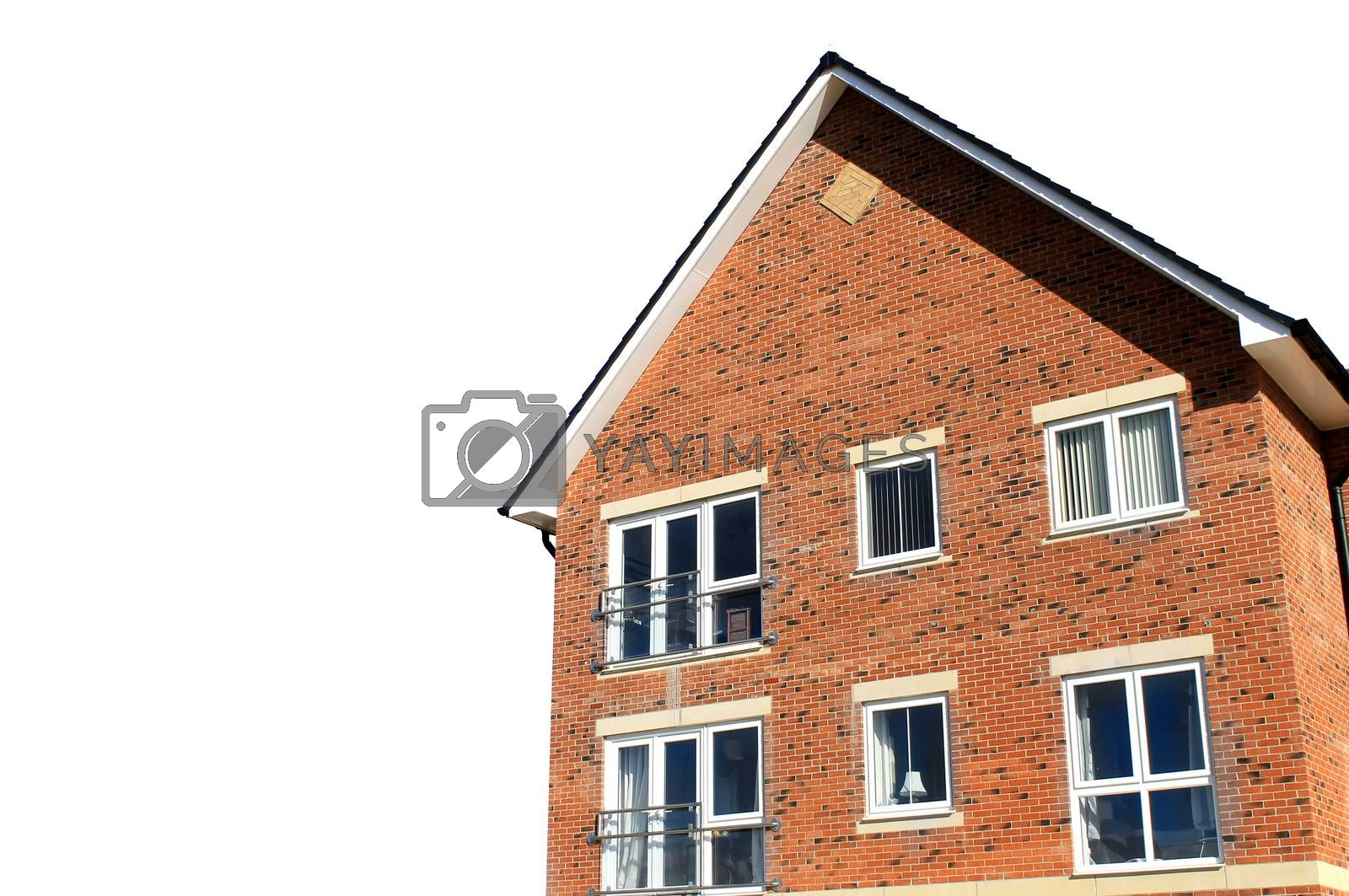Royalty free image of Corner of modern house isolated by speedfighter