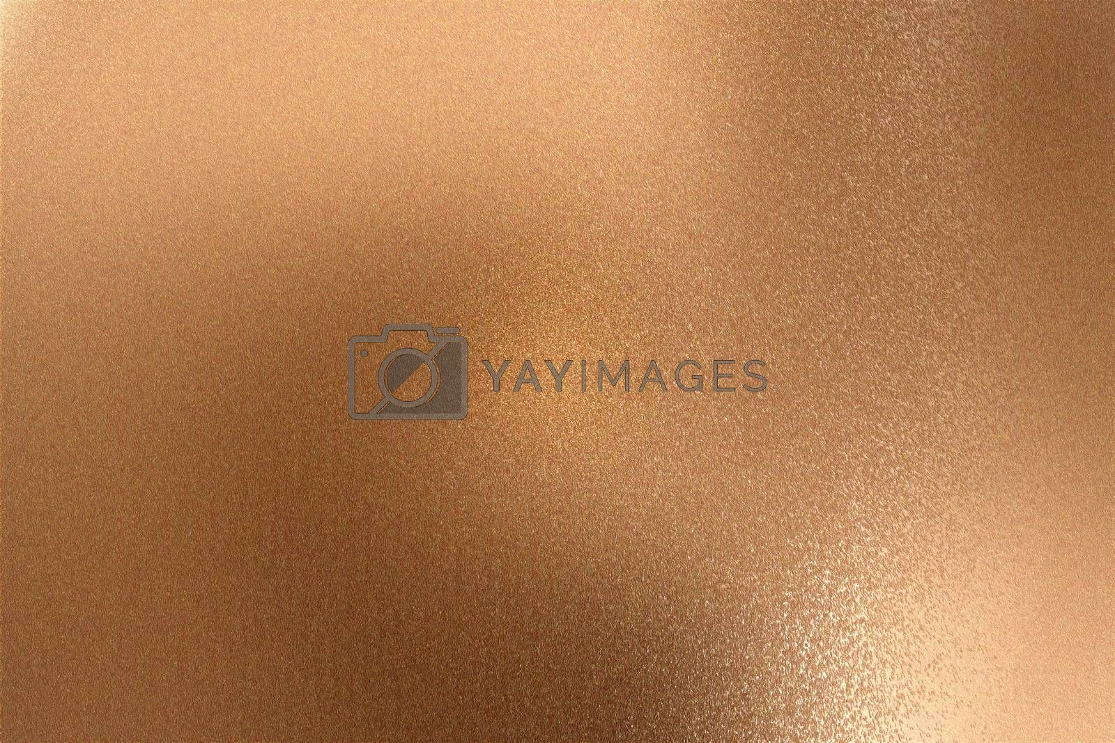 Royalty free image of Glowing bronze metallic wall with scratched surface, abstract texture background by mouu007