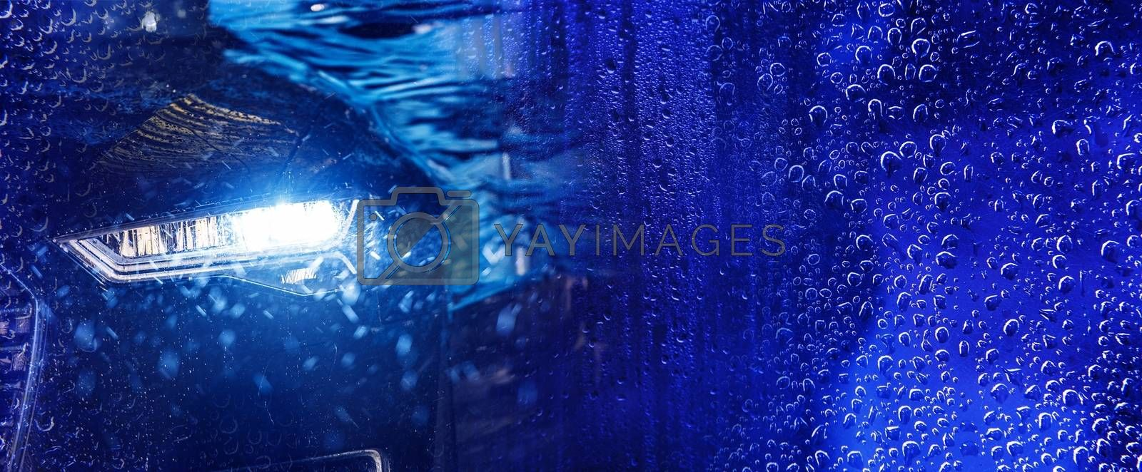 Royalty free image of Modern Car Wash Banner by welcomia