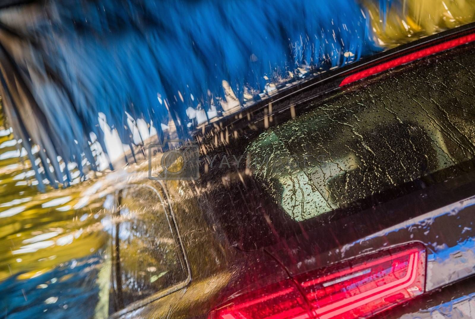 Royalty free image of Vehicle in the Car Wash by welcomia