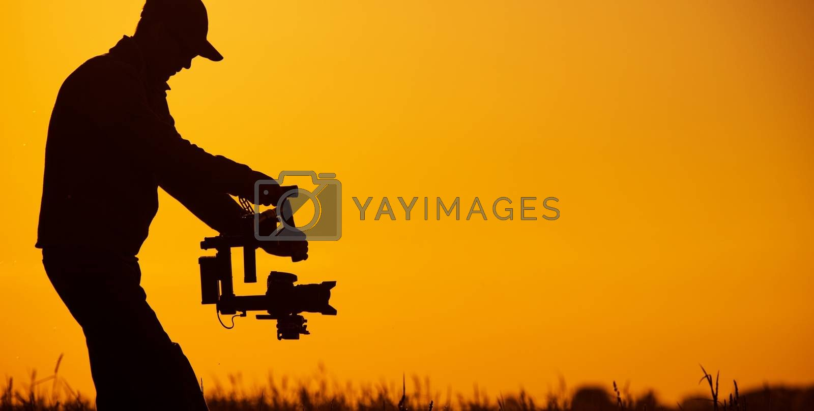 Royalty free image of Video Stabilizer Operator by welcomia