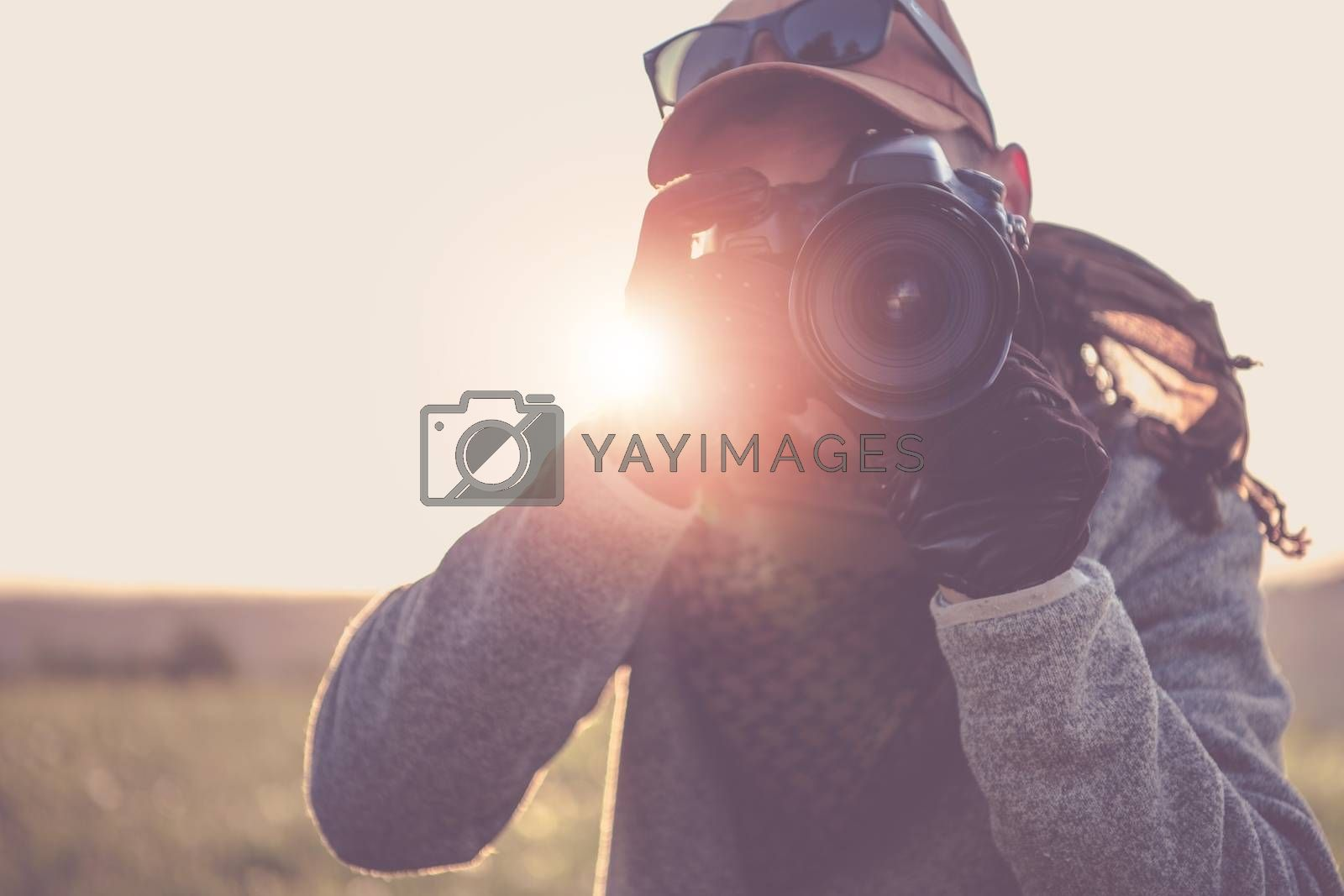 Press Photographer with Camera by welcomia