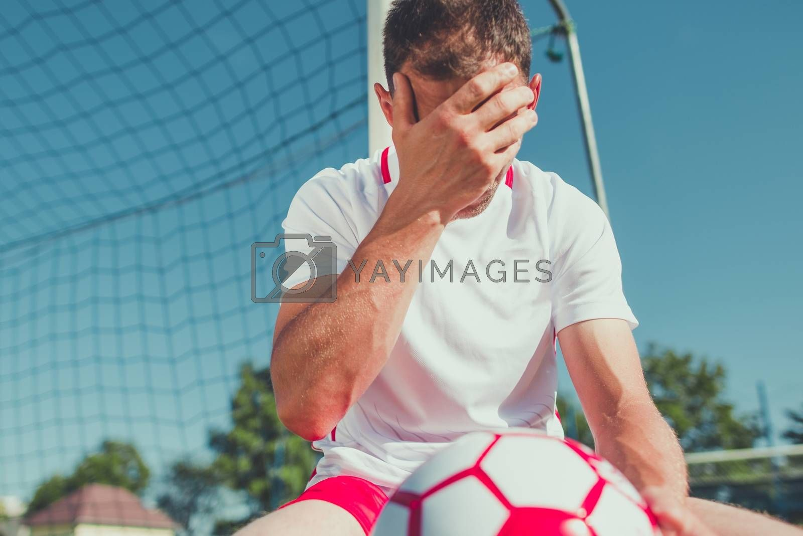 Royalty free image of Soccer Fan Frustration by welcomia