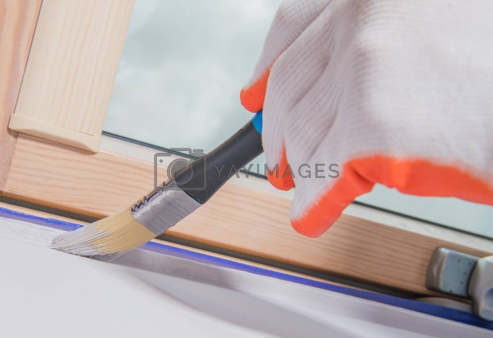 Royalty free image of Painting Room Details by welcomia