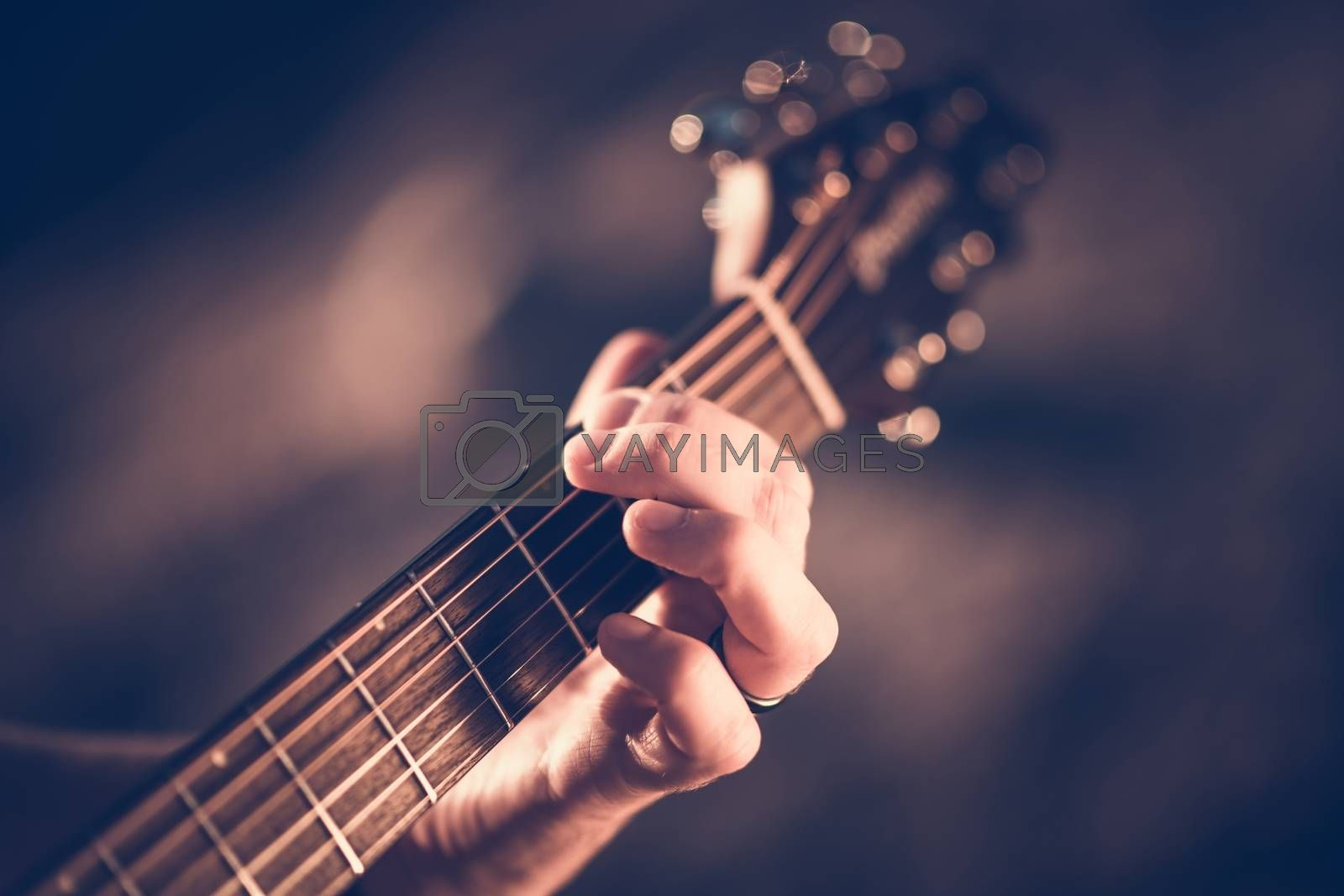 Royalty free image of Learning Acoustic Guitar  by welcomia