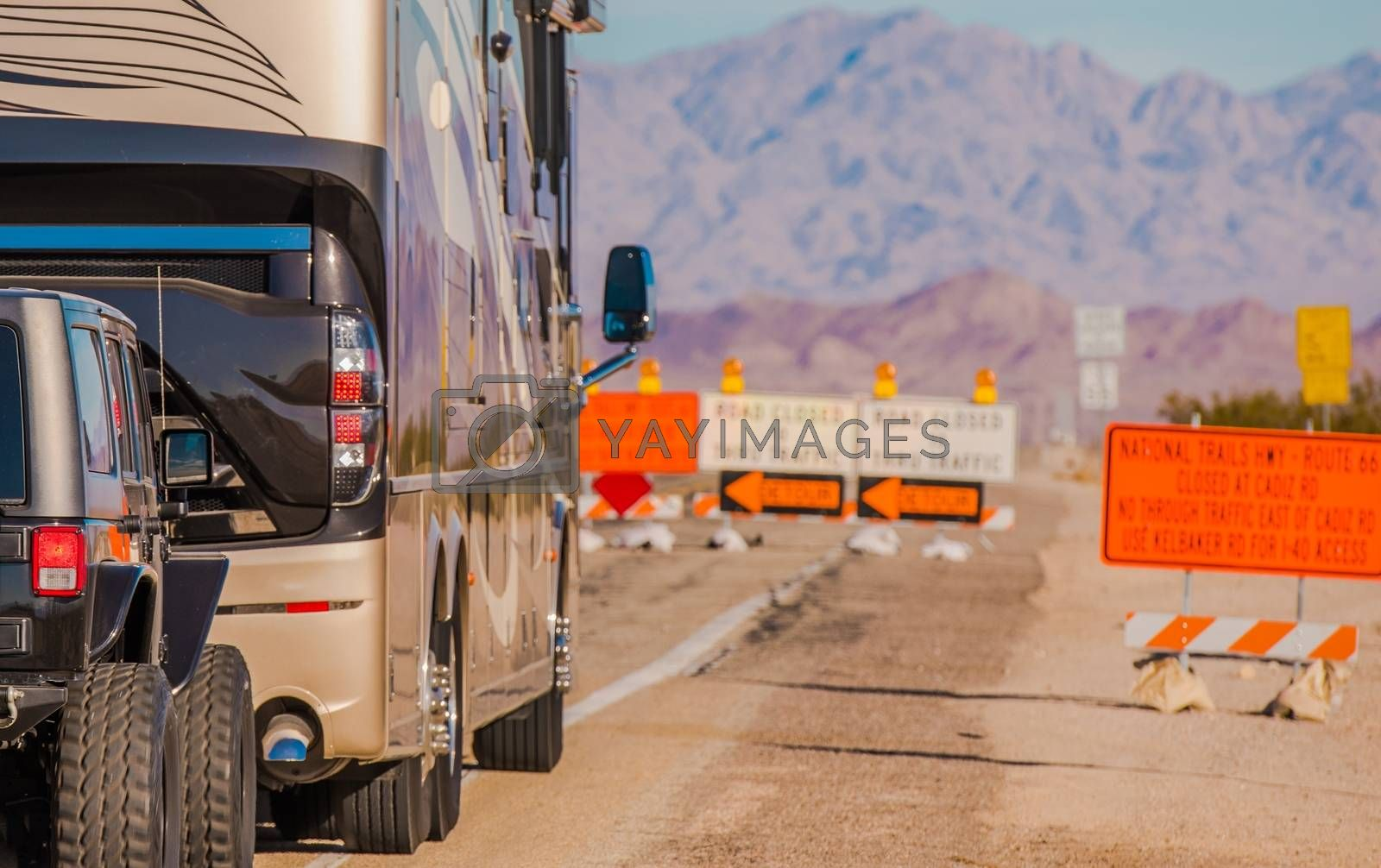 Royalty free image of Vacation Time Road Construction by welcomia