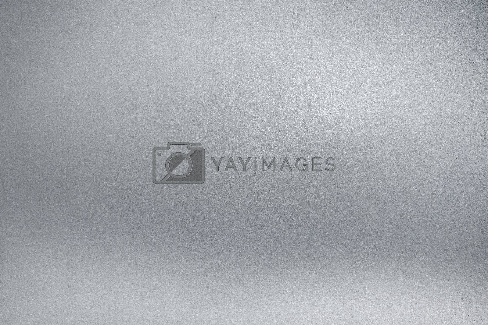 Royalty free image of Light gray rough metal wall, abstract texture background by mouu007